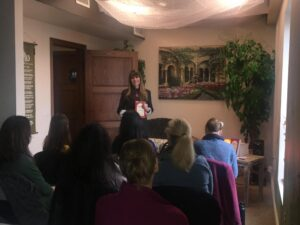 Lisa Teaching at an Event