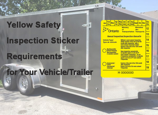 When Is A Yellow Sticker Required For Motor Vehicles