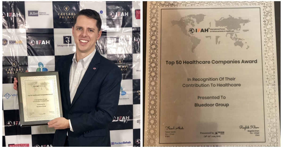 Bluedoor Awarded Top 50 Healthcare Companies by IFAH