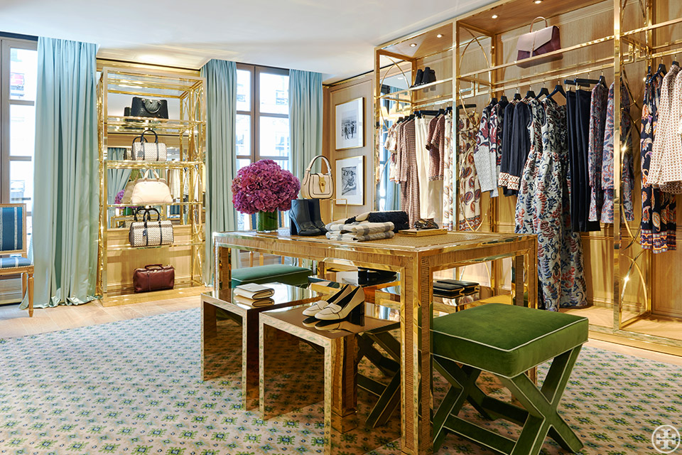 The Tory Burch Shop in Paris Interior Inspiration Forever Chic by Meg