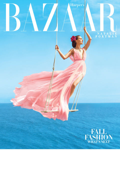 Natalie Portman Pretty in Pink Harpers Bazaar 2015 The Icons Forever Chic by Meg