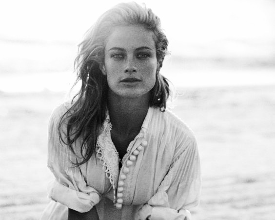 Peter Lindbergh Photographs of Women in a white dress forever Chic by Meg