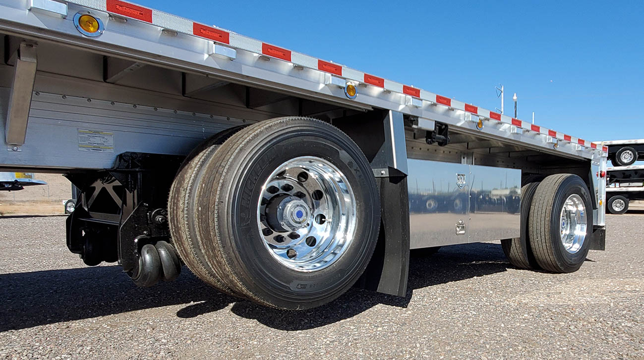 flatbed trailer lift axle