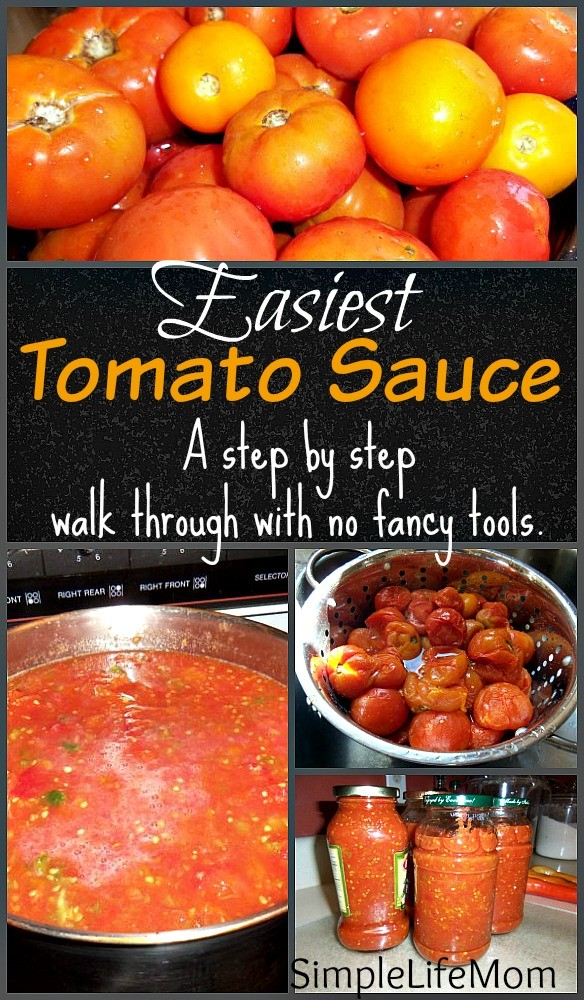 Easiest Tomato Sauce by Simple Life Mom