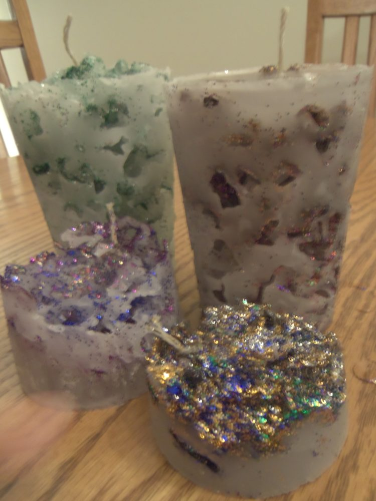 Crushed Ice Candles