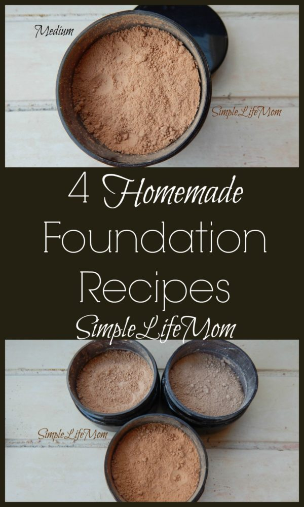 4 Homemade Foundation Recipes