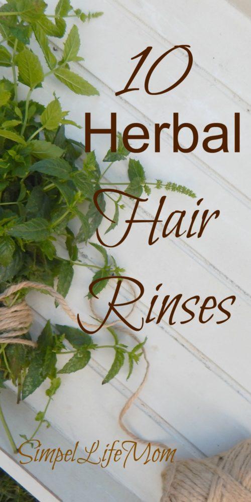 10 Herbal Organic Hair Rinses