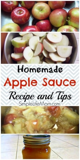12 Apple Recipes for Fall - Homemade Apple Sauce on a Budget - Recipe and Tips from Simple Life Mom