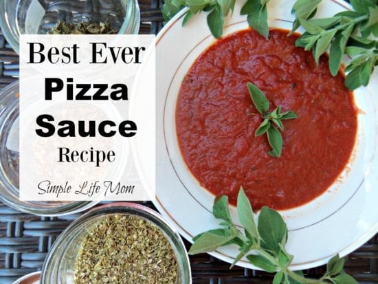 Best Ever Pizza Sauce Recipe from Simple Life Mom