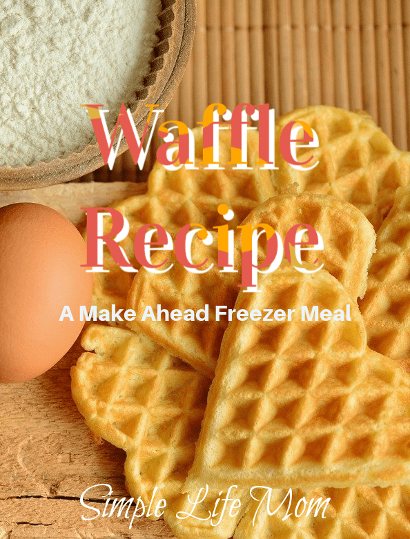 Homemade Frozen Waffles Recipe