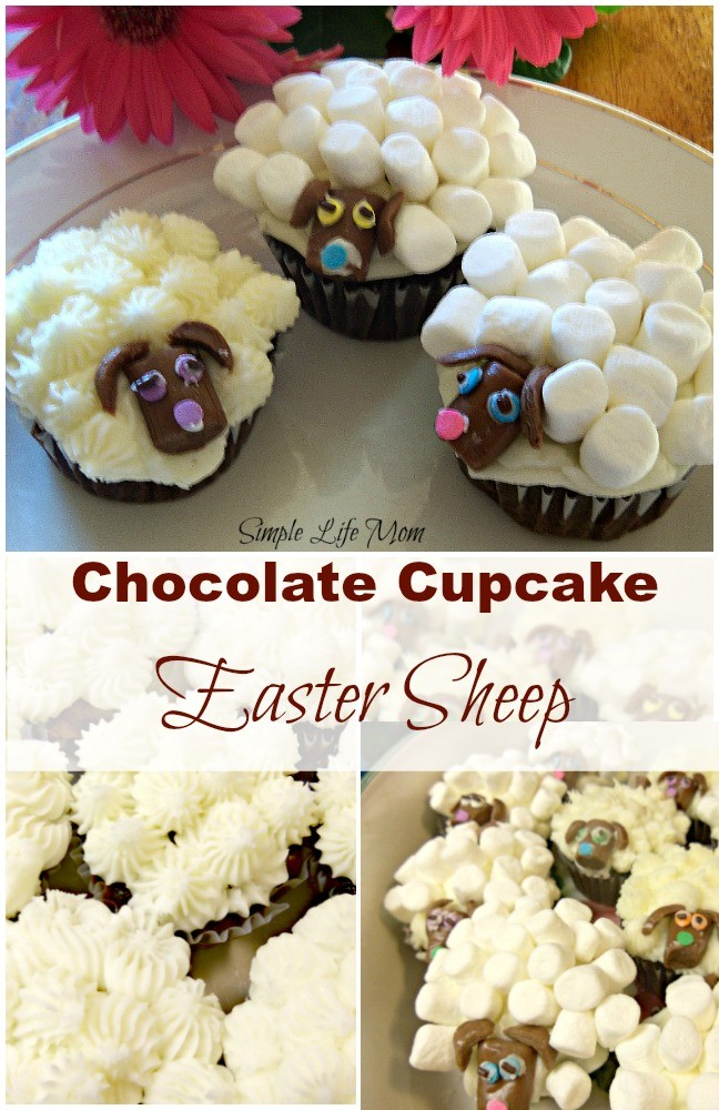 Chocolate Cupcake Easter Sheep from Simple Life Mom