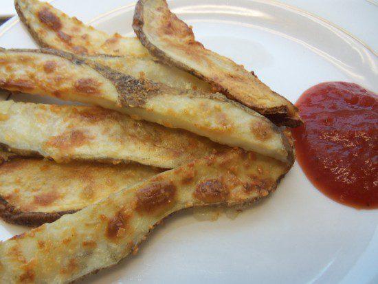 Homemade Ketchup and Parmesan Fries
