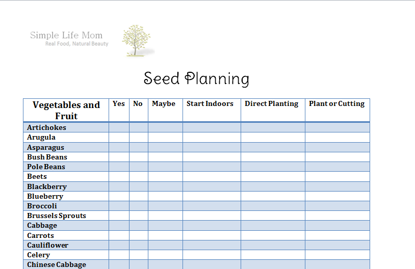 Seed Planning Guide