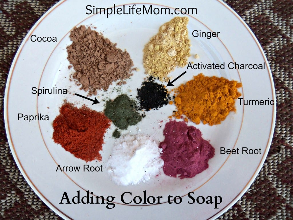 Natural Beauty Product Recipes - Adding Color to Your Soap - natural, healthy, and non-toxic alternatives for adding color to your beautiful soap creations