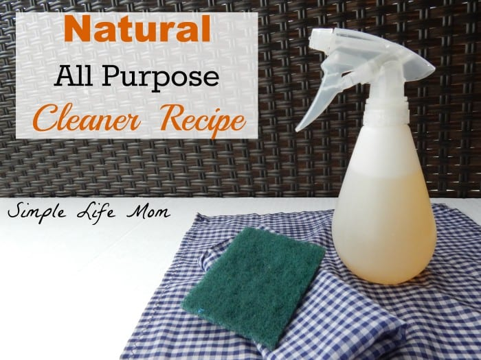 Natural All Purpose Cleaner Recipe made with essential oils by Simple Life Mom