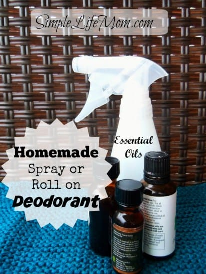 Homemade Spray or Roll on Deodorant from Simple Life Mom
