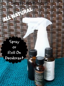 Homemade Spray or Roll On Deodorant