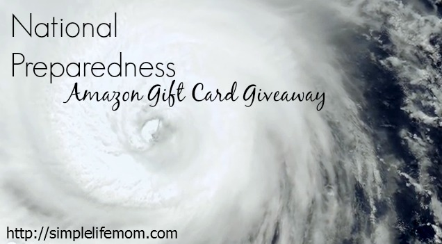 National Preparedness $100 Amazon Giveaway