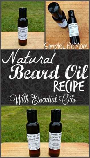 Natural Beard Oil Recipe from Simple Life Mom