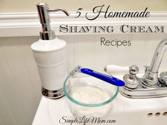 Natural Beauty Product Recipes - 5 Homemade Shaving Cream Recipes