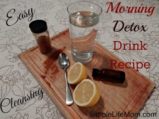 Easy Morning Detox Drink Recipe - with lemon, cayenne, and peppermint essential oil