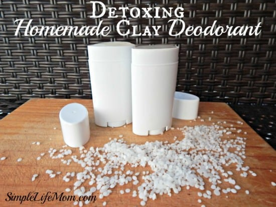 Natural Beauty Product Recipes - clay deodorant