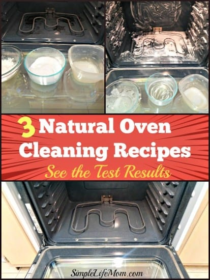 9 Natural Cleaning Recipes for Spring Cleaning - 3 Natural Oven Cleaning Recipes - See the Test Results at SimpleLifeMom.com