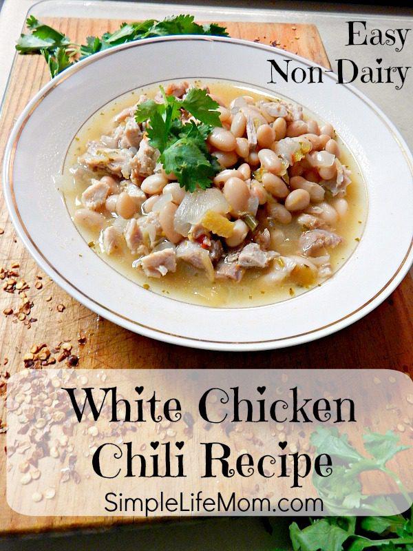 Easy Non Dairy White Chicken Chili Recipe