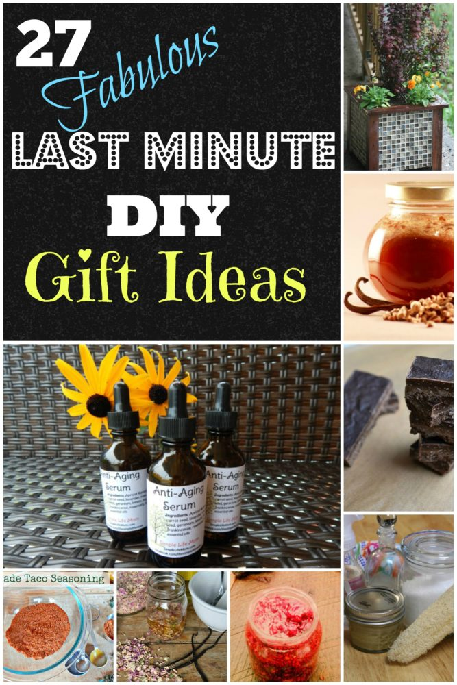 27 Last Minute DIY Gift Ideas