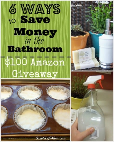 6 Ways to Save Money in the Bathroom - Recipes and ideas from Simple Life Mom #berecycled