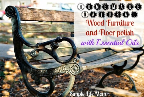 Homemade Wood Furniture and Floor Polish with Essential Oils by Simple Life Mom