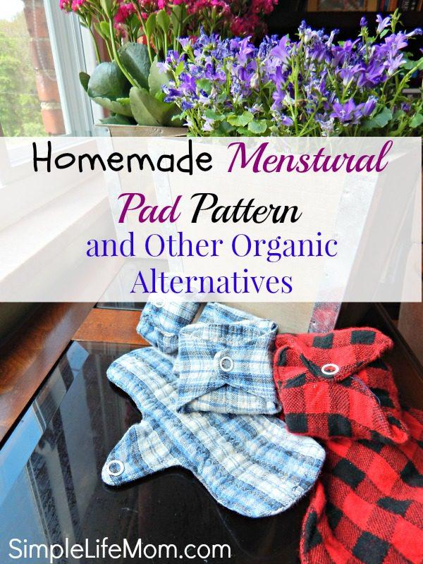 Homemade Menstrual Pad Pattern and Organic Alternatives