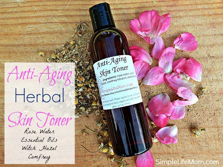 Homemade Anti Aging Herbal Facial Toner