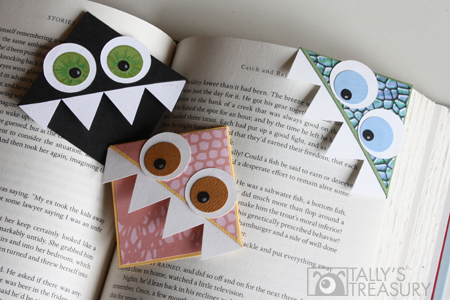 17 natural back to school DIYS - Monster book Marks from Tally's Treasury