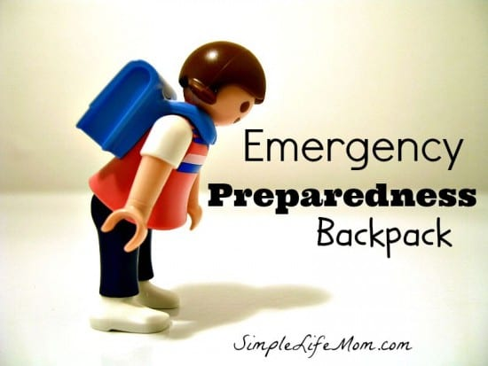 Emergency Preparedness Backpack