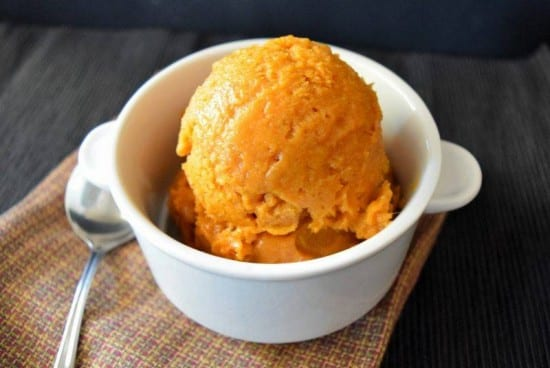 Clean Eating Pumpkin Ice Cream (vegan)