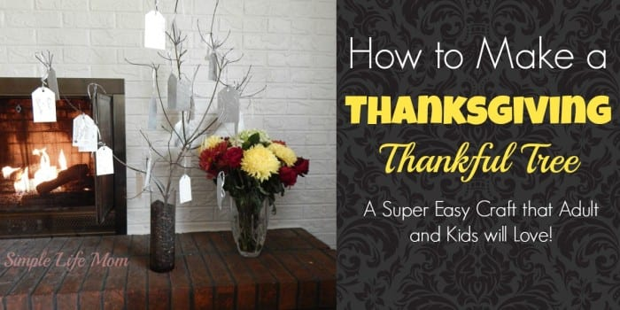 How to Make a Thanksgiving Thankful Tree - a super easy craft from Simple Life Mom