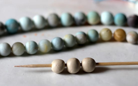 33 Natural Gift Ideas with Essential Oils: homemade-clay-bead-tutorial