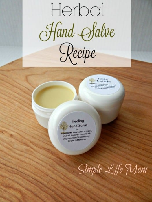 Healing Hand Salve Recipe with calendula oil from Simple Life Mom