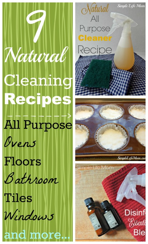 9 Natural Cleaning Recipes from Simple Life Mom