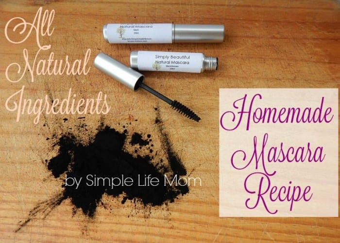 Homemade Mascara Recipe from Simple Life Mom with All Natural Ingredients