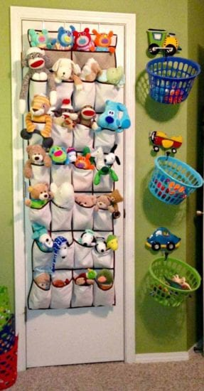 Frugal Organization Ideas for Kids Bedroom from Simple Life Mom - Top 28 Clever Ways to Organize Kids Stuffed Toys from Woo Home