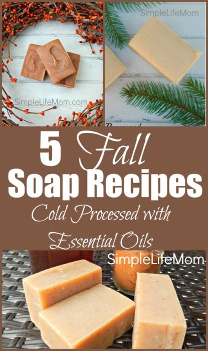 5 Fall Soap Recipes from Simple Life Mom with essential oil blends
