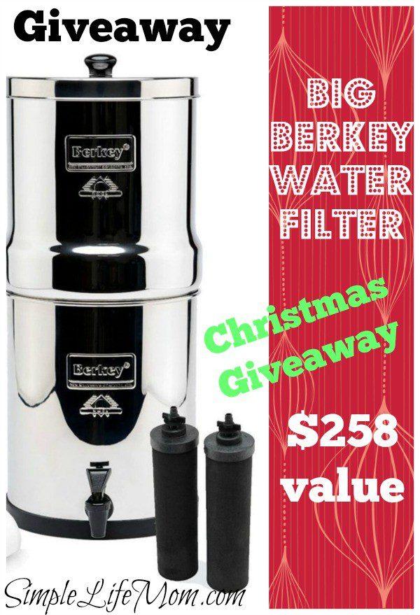 Berkey Water Filter Giveaway ($258 value)