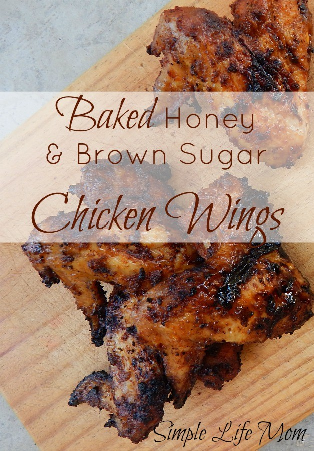 Baked Honey and Brown Sugar BBQ Chicken Wings from Simple Life Mom