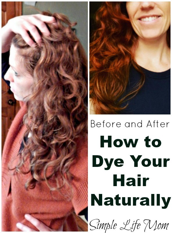 How to Dye Your Hair Naturally Before and After from Simple Life Mom
