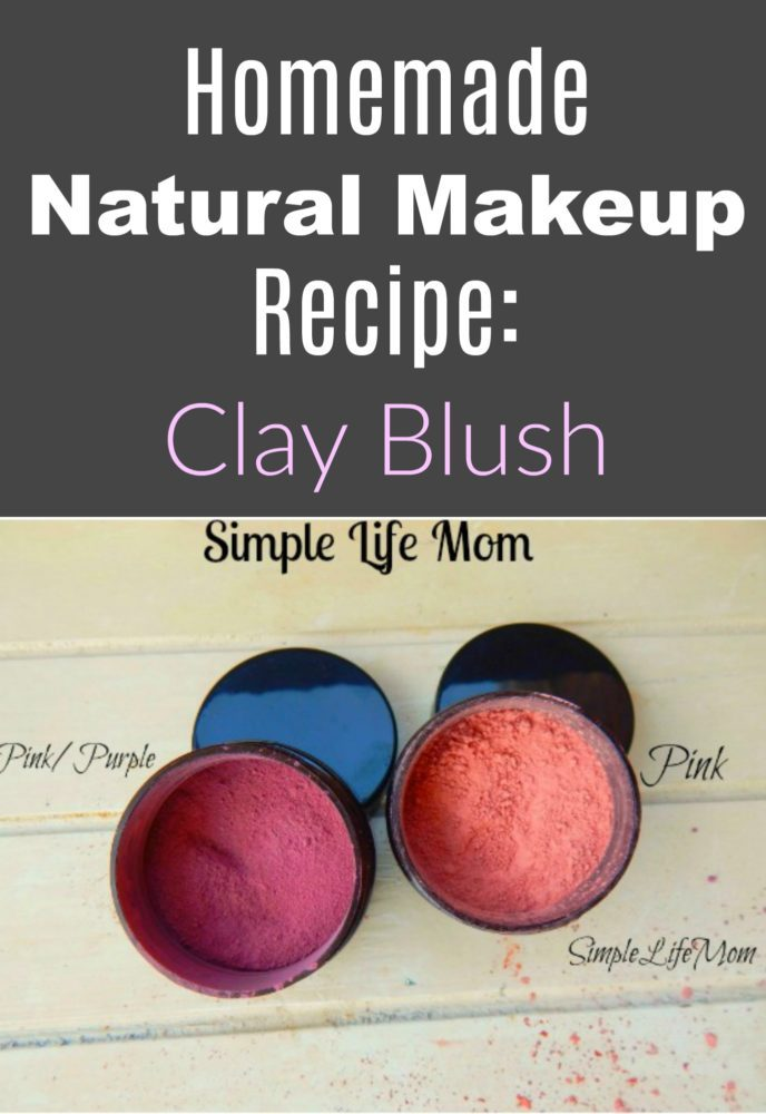 Homemade Natural Makeup Recipe: Clay Blush
