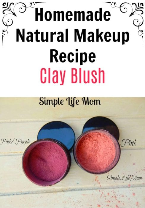 Homemade Natural Makeup Recipe clay Blush by Simple Life Mom