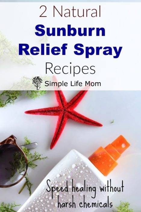 2 Natural Sunburn Relief Spray Recipes Organic from Simple Life Mom