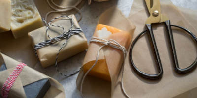Wrapping and Labeling Soap by Kelly Cable